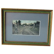 Framed WWI Post Card of Military Surveyors. - 1909