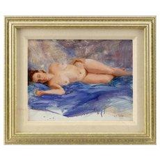 Reclining Female Nude, America, 20th Century