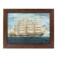 19th Century -  Full-Rigged Ship at Sea