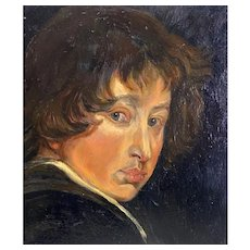 19th C. Oil Portrait of a Young Gentleman