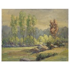 """Spring Day Lexington, MA"" o/b Vintage Painting"