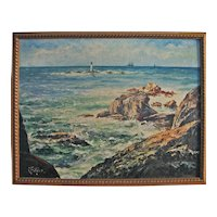 Impressionist Oil -  Ram Island Ledge Light