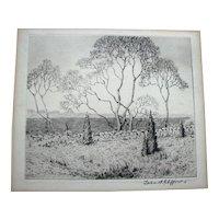 "Antique Block Print of ""March"""