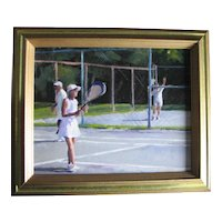 """Casino Tennis"", by Chris Bertram, Fairhaven, MA Artist."