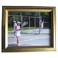 """""""Casino Tennis"""", by Chris Bertram, Fairhaven, MA Artist."""