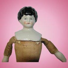 "Antique 9"" German China Head Doll"