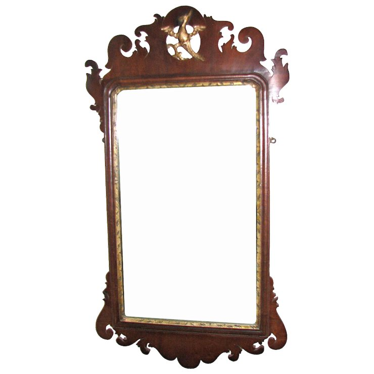Antique American Chippendale Scroll-Frame Mirror, 18th Century ...