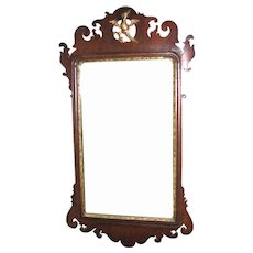 Antique American Chippendale Scroll-Frame Mirror, 18th Century