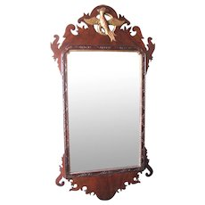 Large Antique Chippendale Mirror,  19th Century with Phoenix
