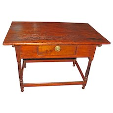 Antique Country Pine Tavern Table