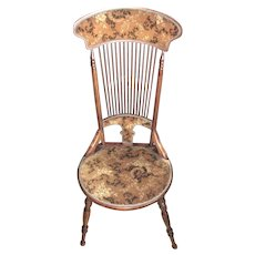 Art Nouveau Upholstered Spindle Chair