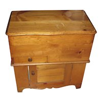 Antique Late 19th Cent. Pine Lift Top Washstand