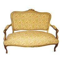 Victorian Louis XV Style Gilt Settee Sofa