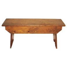 19th Century Antique Pine Wash Bench