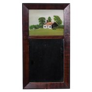 Antique 19th C. Hanging Looking Glass