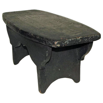 Early 19th Century  Antique American Cricket Stool
