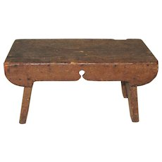 Mid-19th Century Antique American Cricket Stool