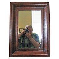 Flame Mahogany Ogee Mirror - 19th C.