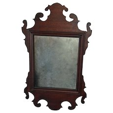 19th Century Mahogany Antique Chippendale-Style Mirror