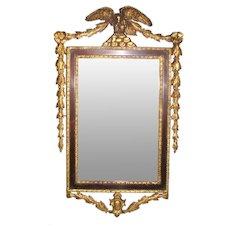 Federal Style Gilt & Gesso Mirror - Eagle Crest & Garland