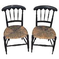 Pair of Period Sheraton Children's Chairs