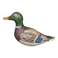 Vintage Miniature Mallard Drake Duck Carving