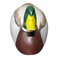 Miniature Carved Mallard by D. Bouchles