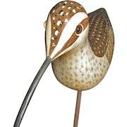 Vintage Handcarved & Painted Shorebird (Curlew) – Gallego