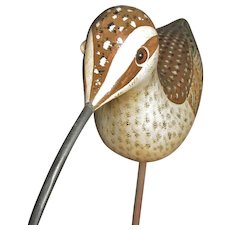 Vintage Handcarved & Painted Shorebird (Curlew) – Gallego