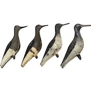 Four Strater and Sohier Tin Yellowlegs Decoys