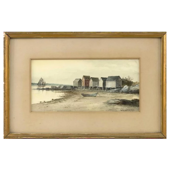 George Hathaway Watercolor Seascape