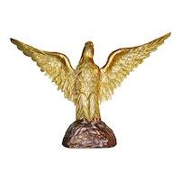 """Vintage 11"""" Carved Gilded Eagle"""