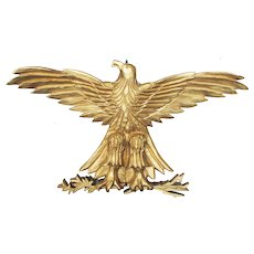Vintage Folk Art Carved & Gilded Eagle