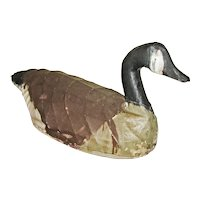 Large Antique Wire & Canvas Canada Goose Decoy