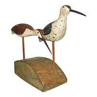 Vintage Carving two Shore Birds – Timothy Stevens