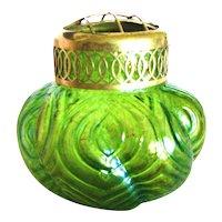 Czechoslovakian Iridescent Art Glass Flower Frog Vase – Welz Spiraloptisch