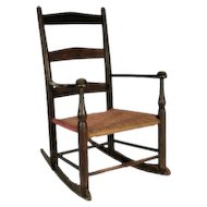 Antique Shaker Child's Rocking Armchair