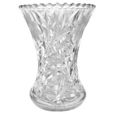 "Brilliant Clear Crystal 8"" Waisted Vase"