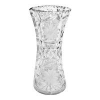 """12"""" Brilliant Cut Crystal Waisted Vase"""