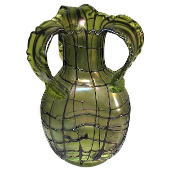 Large Pallme-Konig Art Glass Vase Ca1900