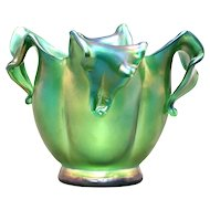 Floral Blossom Form Austrian Art Glass Vase