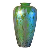"Antique 12"" Loetz Phaenomen Genre Art Glass Vase"