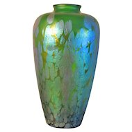 "Antique 12"" Loetz Phaenomen Genre Art Glass Vase"