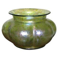 """Antique 4 1/4"""" Loetz Diana Ciselé  Melon Shaped Bowl"""
