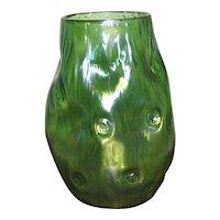 Loetz Iridescent Rusticana Vase Bohemia