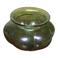 "4 1/4"" Loetz Rusticana Melon Shaped Bowl"
