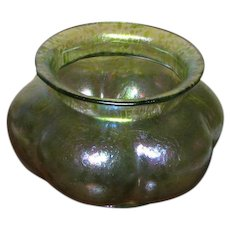 "4 1/4"" Loetz Rusticana Melon Shaped Bowl"