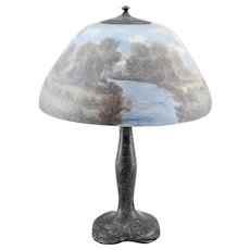 Moe-Bridges Table Lamp – Reverse-Painted Shade