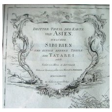 Antique Map of ASIA – 1787 by D'Anville