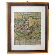 Map of Shrowesbury, England – Ca 1649